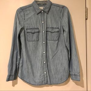 EUC Old Navy Chambray Button Down Shirt